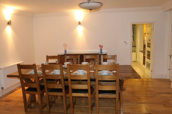 Holiday home large dining room